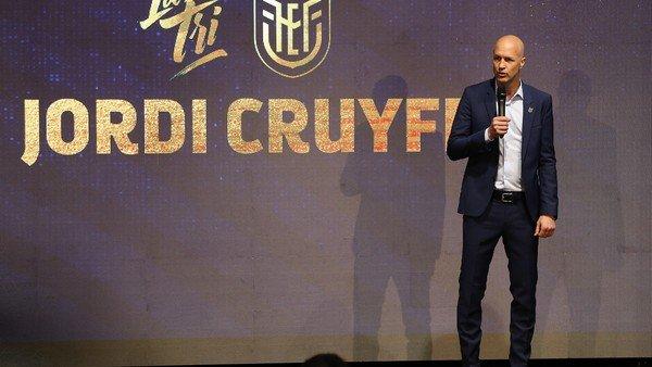 Jordi Cruyff fue presentado como el nuevo entrenador de la selección de Ecuador