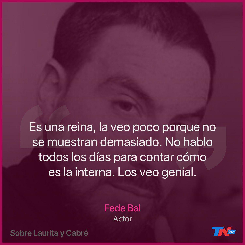 Fede Bal opinó del noviazgo de Laurita Fernández con Nicolás Cabré
